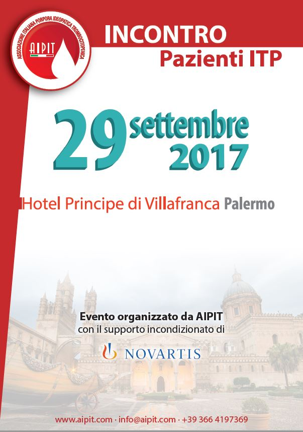 Giornata d'incontro a Palermo il 29 settembre 2017